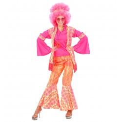 Costume Hippie Fuxia