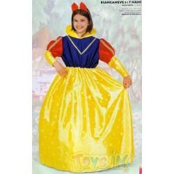 Vestito Biancaneve bambina 9 - 11 anni