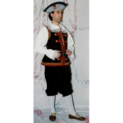 Costume Valletto Bordeaux