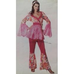 Costume Hippie Donna Rosso