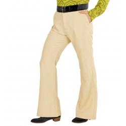 Pantaloni a zampa beige